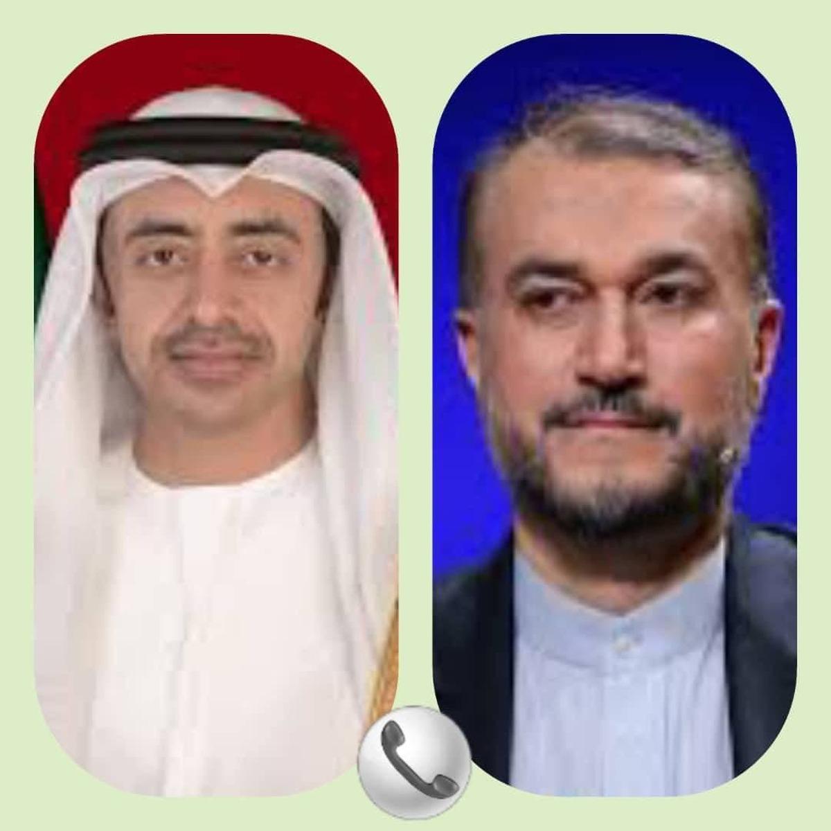 تماس تلفنی وزرای خارجه ایران و امارات