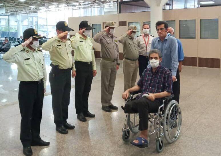 محیط بان قطع عضو شده گتوند از بیمارستان مرخص شد