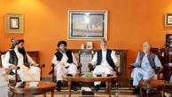 دیدار عبدالله و کرزای با اعضای دفتر سیاسی گروه طالبان