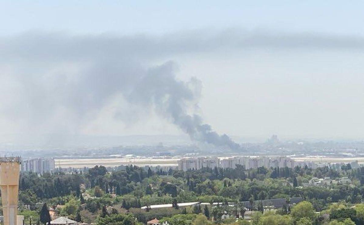 آتشسوزی گسترده در حوالی فرودگاه بن گوریون اسرائیل
