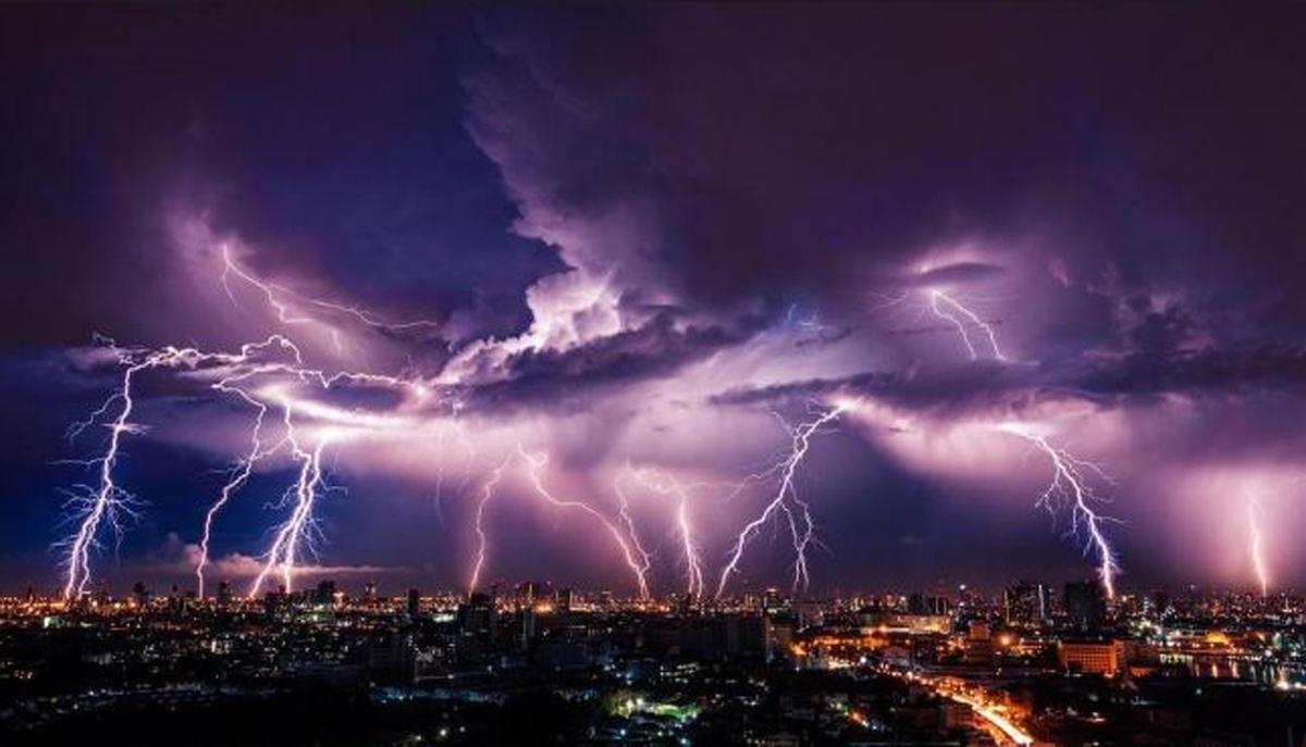 هشدار سازمان هواشناسی     رعد و برق و وزش باد شدید