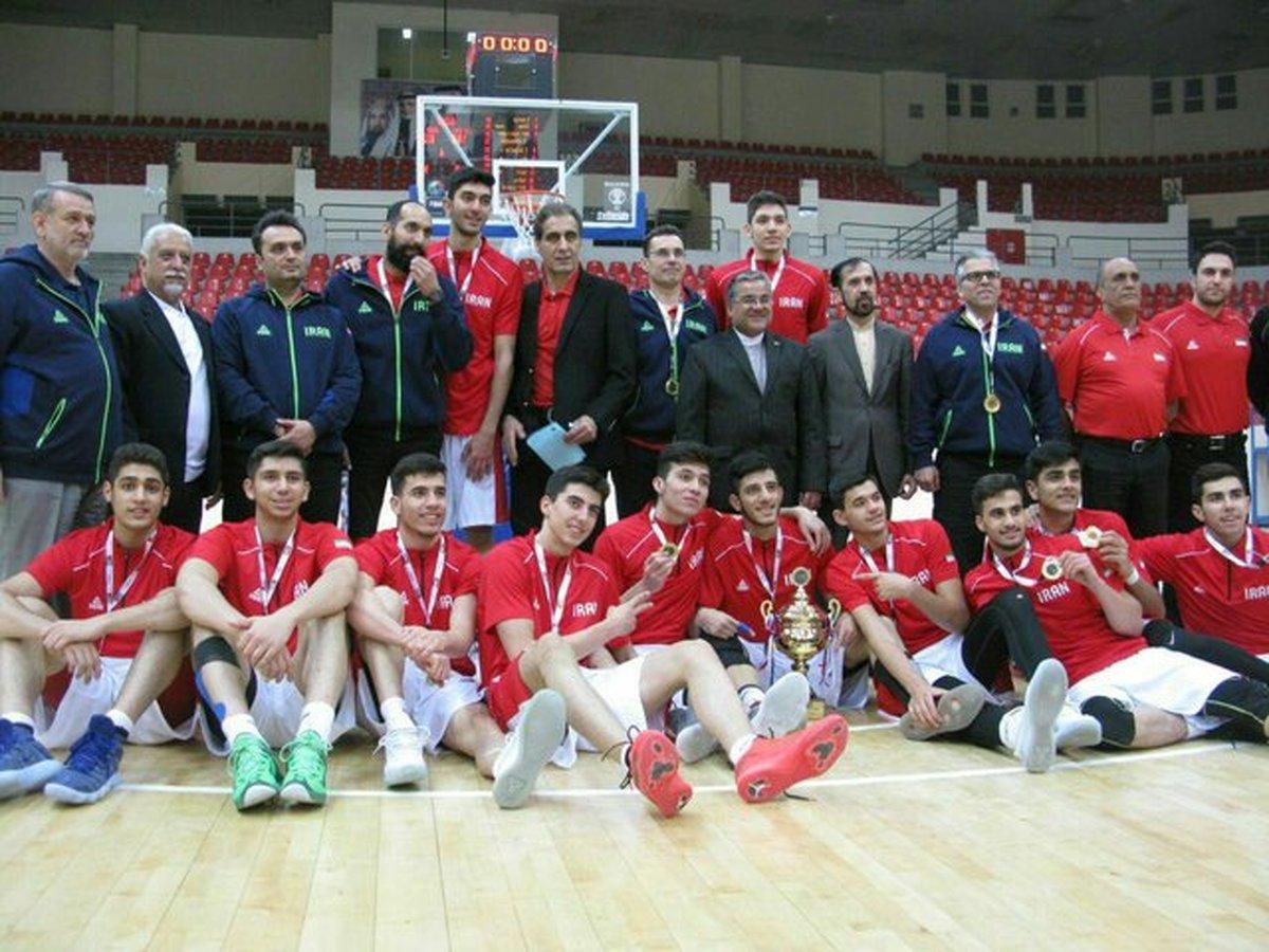قهرمانی ایران در بسکتبال جوانان غرب آسیا
