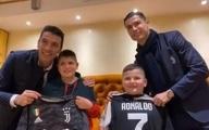 """عیادت """"رونالدو"""" و """"بوفون"""" از دو کودک زلزله زده آلبانیایی"""