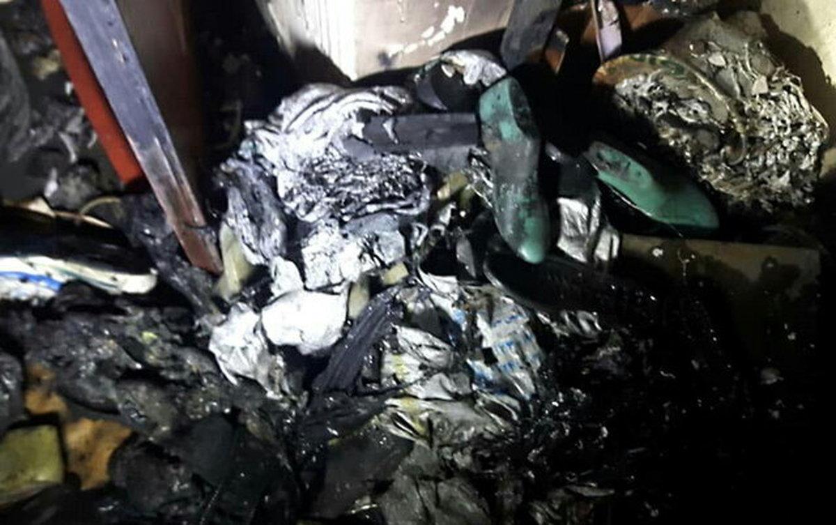 آتشسوزی کارگاه تولید کفش در خیابان سپهسالار تهران