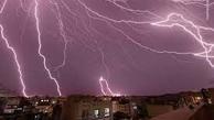 ادامه بارش باران و رعد و برق در تهران