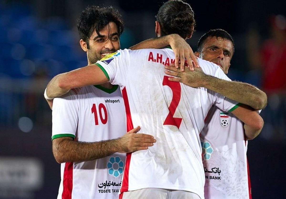 جام بینقارهای فوتبال ساحلی| ایران با درهمکوبیدن اسپانیا قهرمان شد کسب جام با مربی ایرانی
