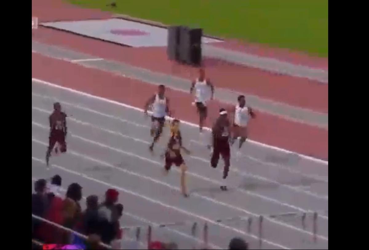 ویدیو: شیرجه عجیب «اینفینیته تاکر» در لحظات پایانی مسابقه دو ۴۰۰ متر با مان