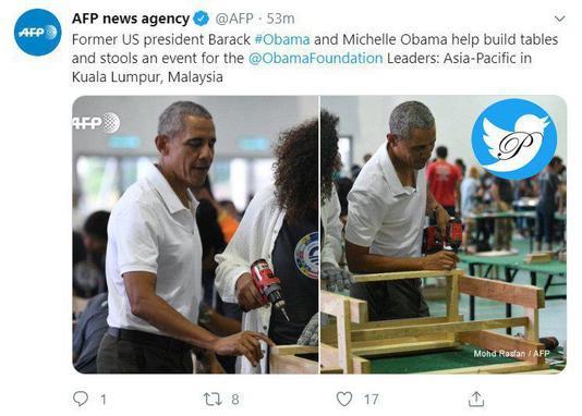 ساخت میز و صندلی توسط اوباما و همسرش