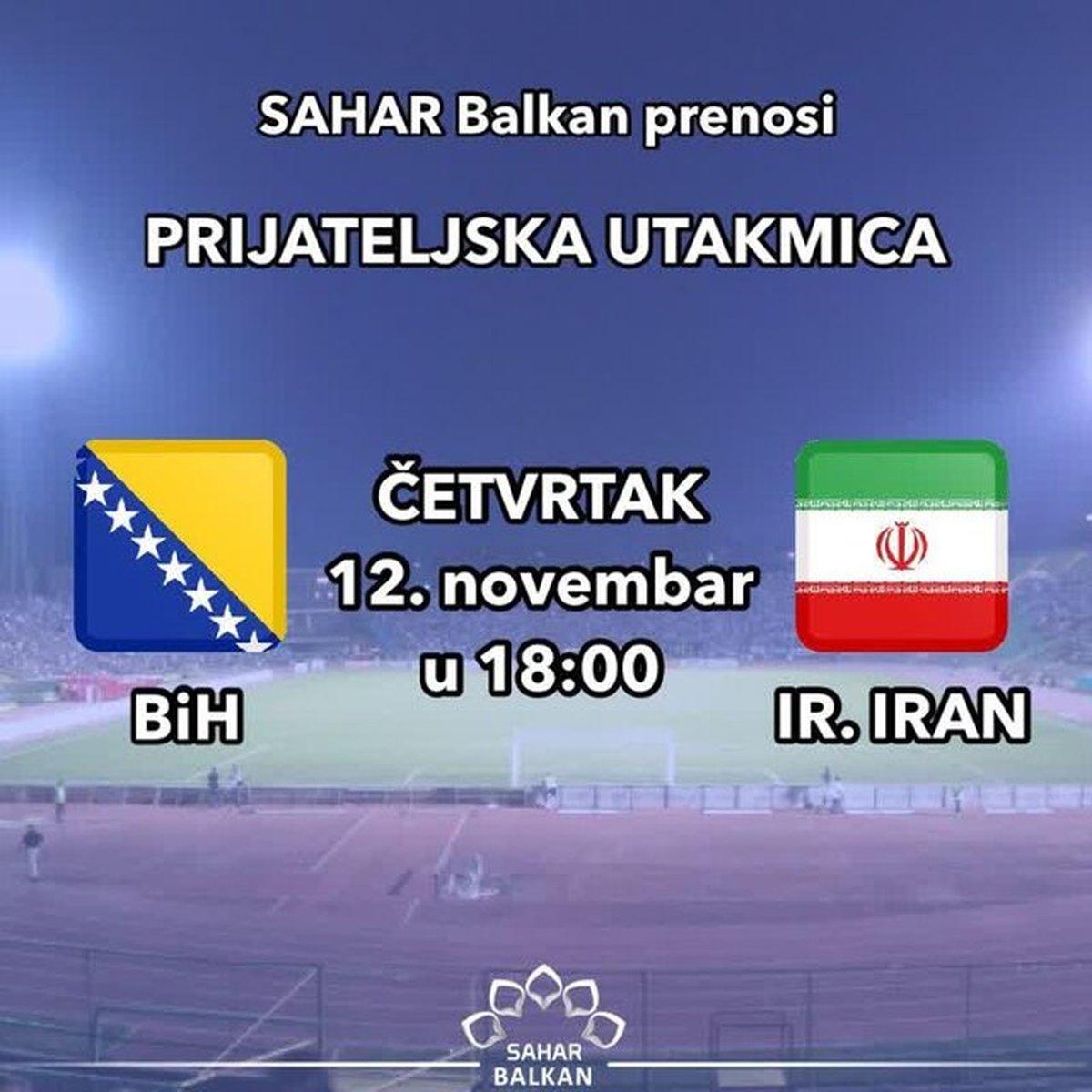 گزارش فوتبال ایران ـ بوسنی به زبان بوسنیایی