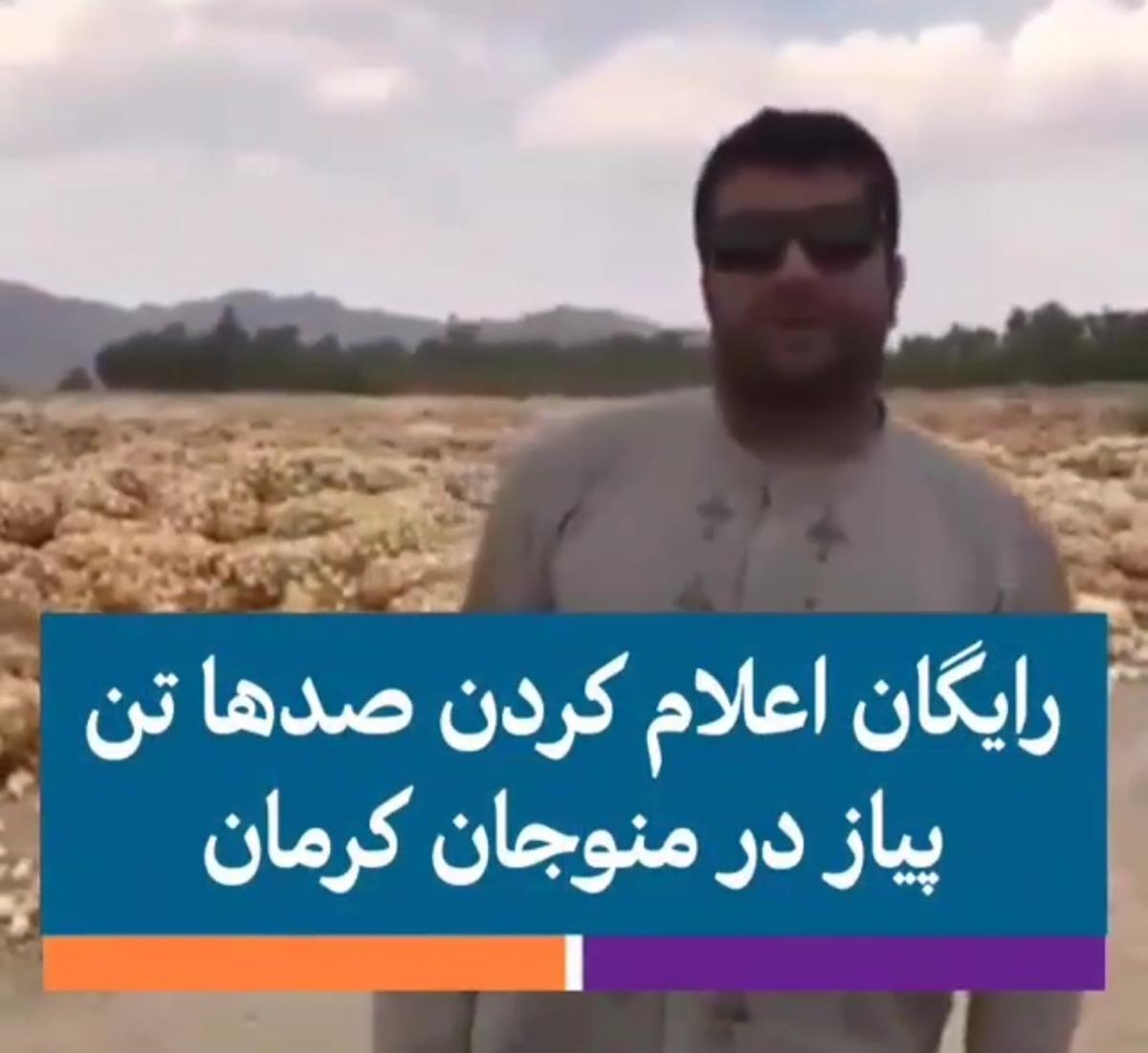 رایگان اعلام کردن صدها تن پیاز در پی تلنبار شدن + ویدئو