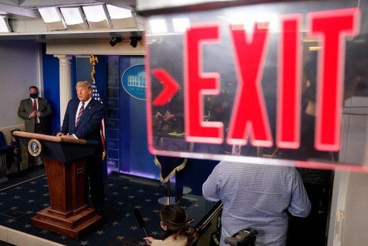 سخنگوی بایدن: ترامپ را از کاخ سفید بیرون میکنیم