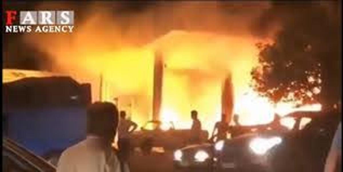 درانفجار پمپ بنزین چند نفر زخمی شدند