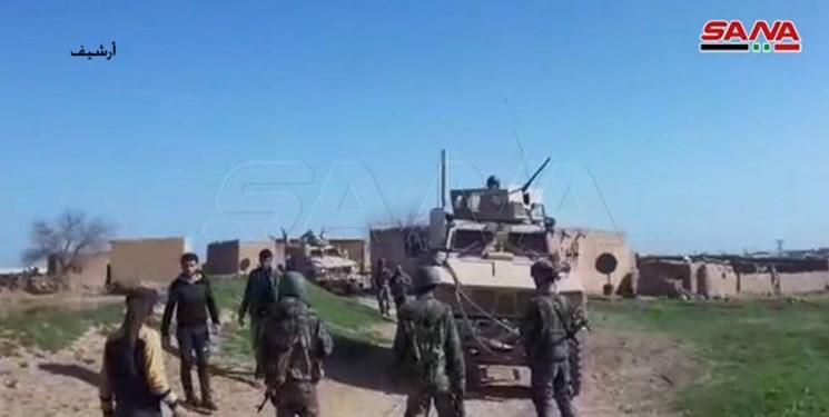 هدف قرار گرفتن یک کاوران نظامی لجسیتک ارتش آمریکا در جنوب عراق