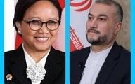 تماس تلفنی امیرعبداللهیان با وزیرخارجه اندونزی