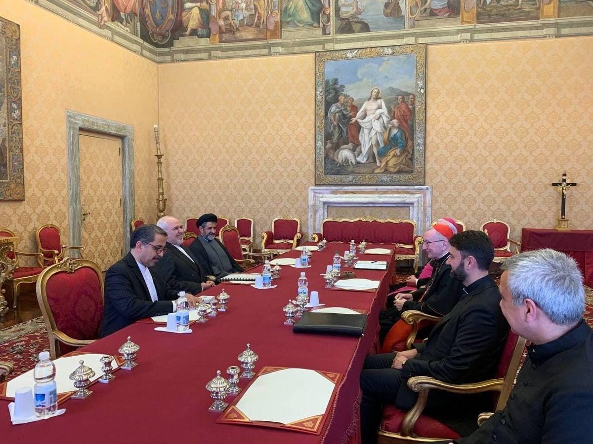 دیدار ظریف با نخستوزیر و وزیر خارجه واتیکان