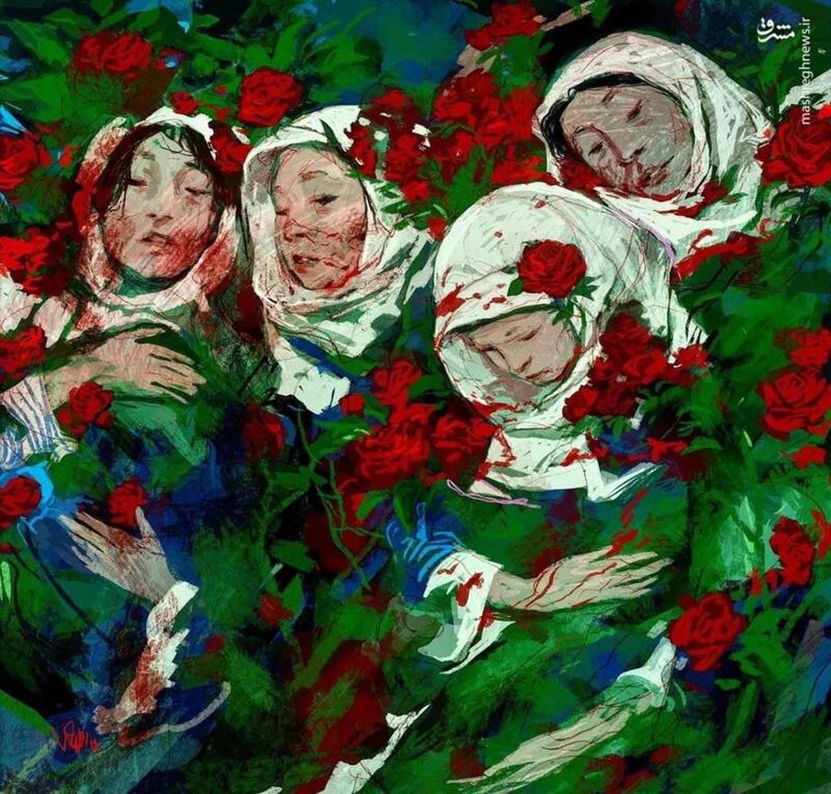 نقاشی جدید روح الامین برای نوگلان افغانستان + عکس