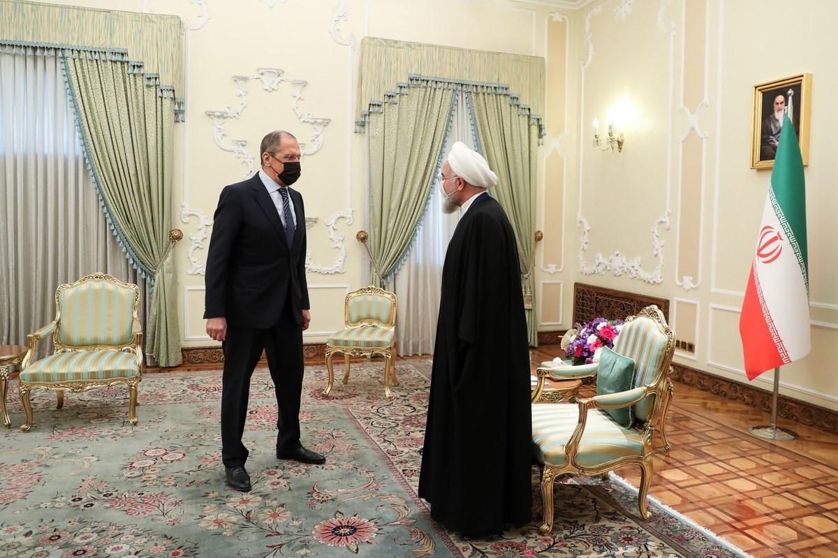 لاوروف به دیدار روحانی رفت