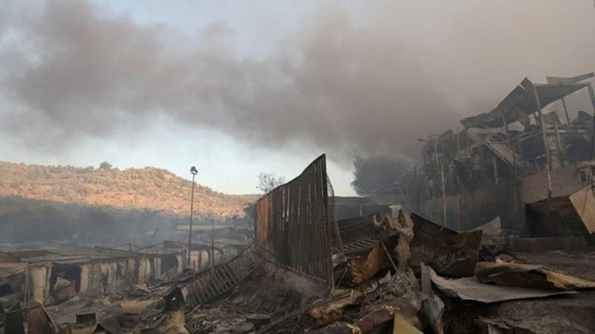 آتش سوزی در بزرگترین اردوگاه پناهجویان یونان