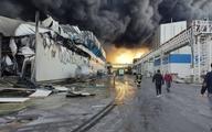 آتشسوزی گسترده در شرکت طبیعت زرندیه