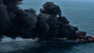 آتش سوزی یک کشتی در سواحل ویکتوریا در بریتیش کلمبیای کانادا