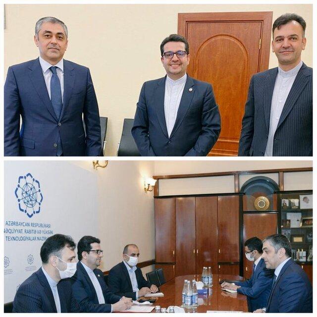 دیدار سفیر ایران در باکو با وزیر حمل و نقل، ارتباطات و فناوریهای نوین آذربایجان