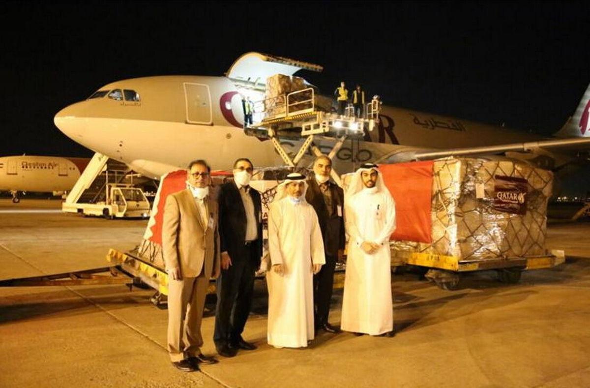 دومین محموله کمکهای دارویی قطر به تهران آمد