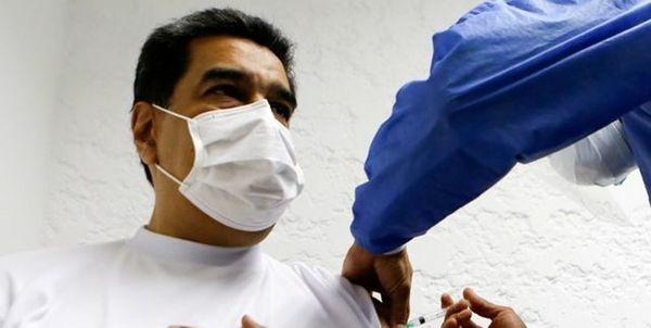 رییس جمهور ونزوئلا و همسرش واکسن روسی کرونا تزریق کردند