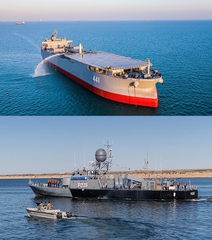ناوبندر مکران و ناوچه موشک انداز زره به ناوگان نیروی دریایی ارتش ملحق شد