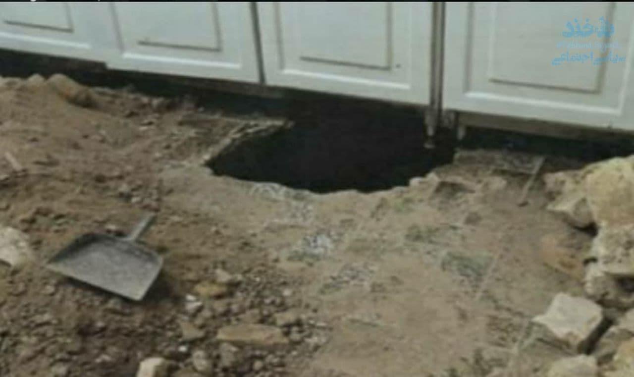 سارق به حفر تونل از منزلش به خانه همسایه و سرقت از آنجا اعتراف کرد.