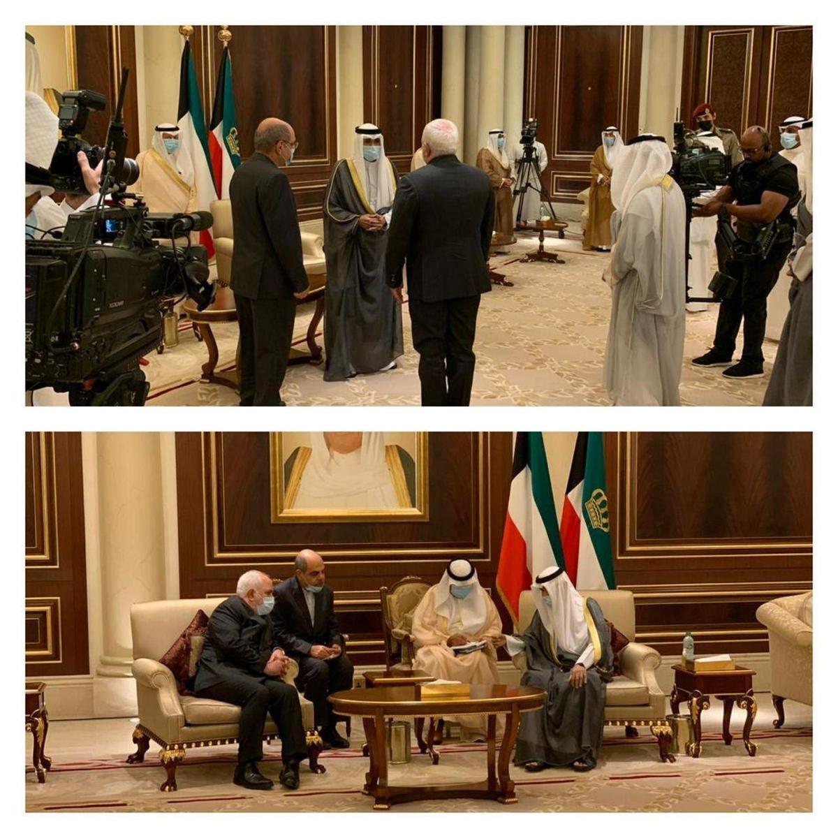 ظریف به دیدار امیر جدید کویت رفت