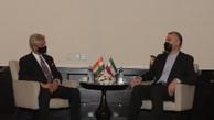 دیدار امیرعبداللهیان با وزیر خارجه هند در حاشیه اجلاس شانگهای