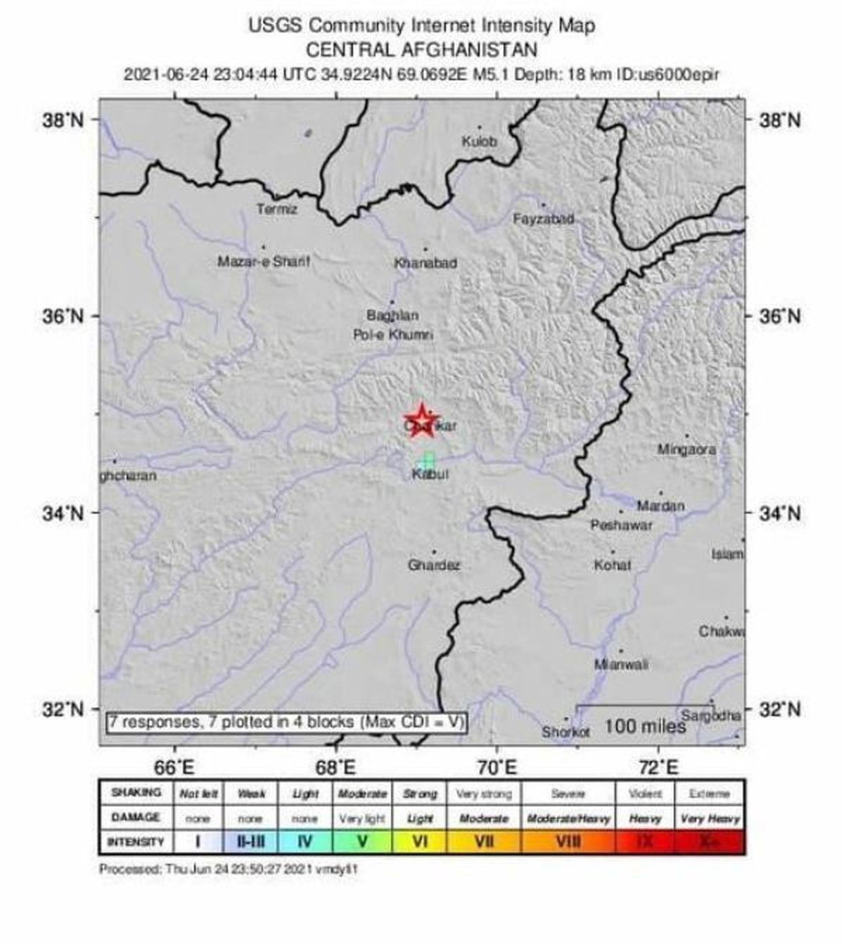 زلزلهای با شدت ۵.۱ درجه کابل و شهرهای افغانستان را لرزاند