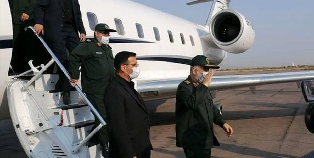 فرمانده کل سپاه پاسداران به کرمان رفت+ عکس