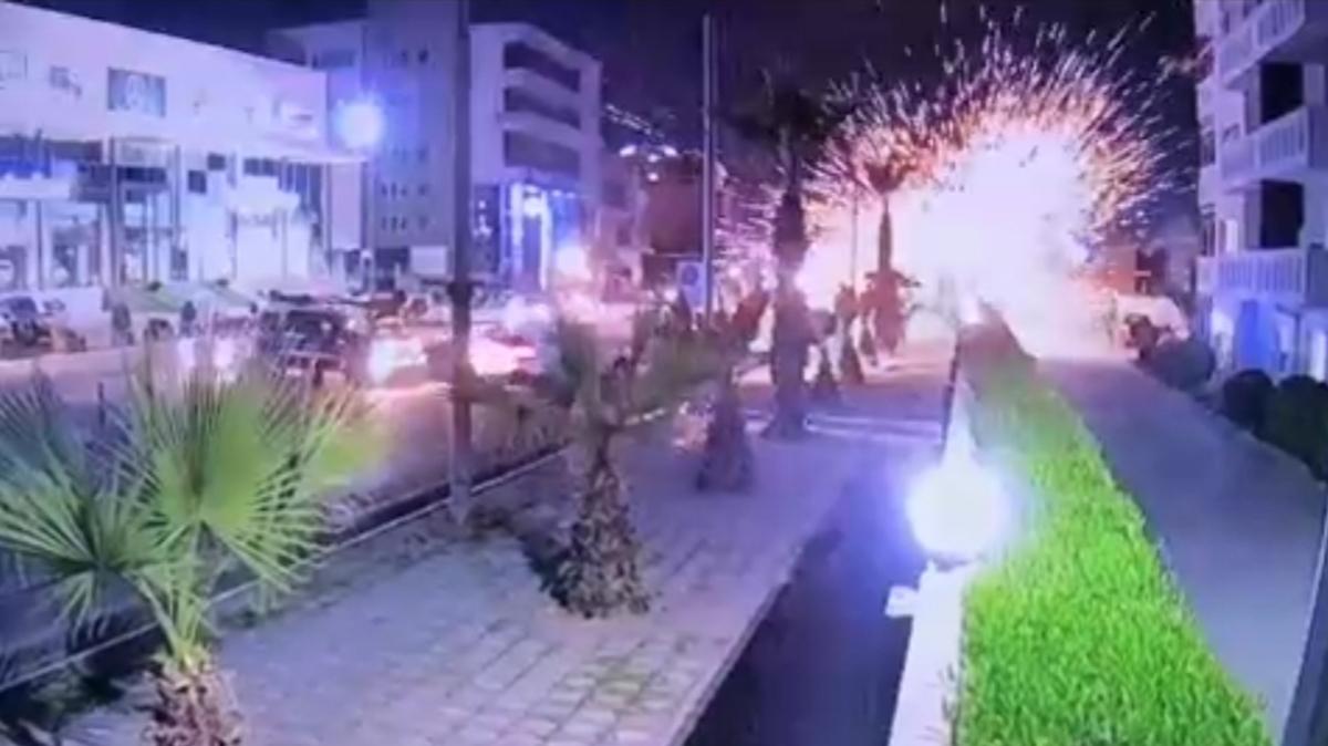 لحظه انفجار ۳ موشک در فرودگاه اربیل عراق + ویدئو