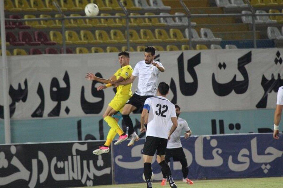 هفته ۲۶ لیگ یک فوتبال پیروزی شاهین برابر چوکا