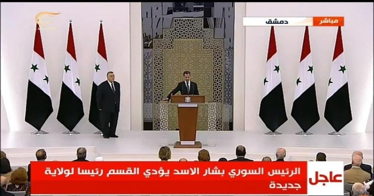 مراسم تحلیف بشار اسد آغاز شد