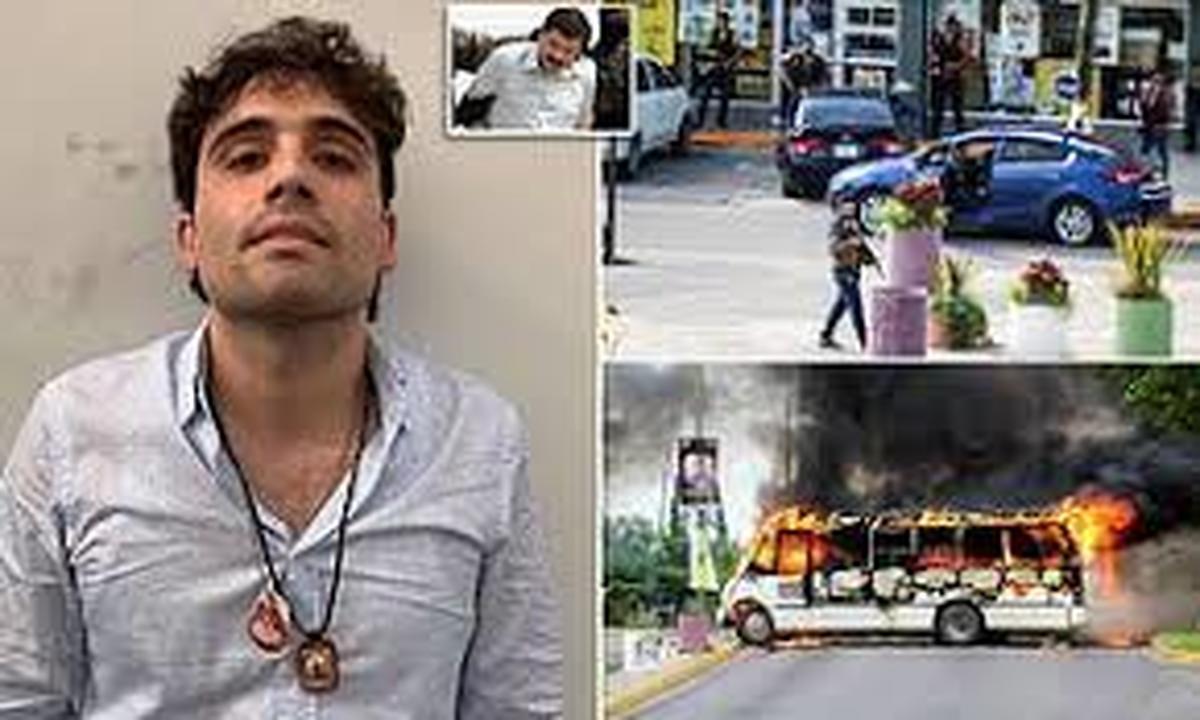 ویدئو : مردان مسلح پسر ال چاپو را فراری دادند