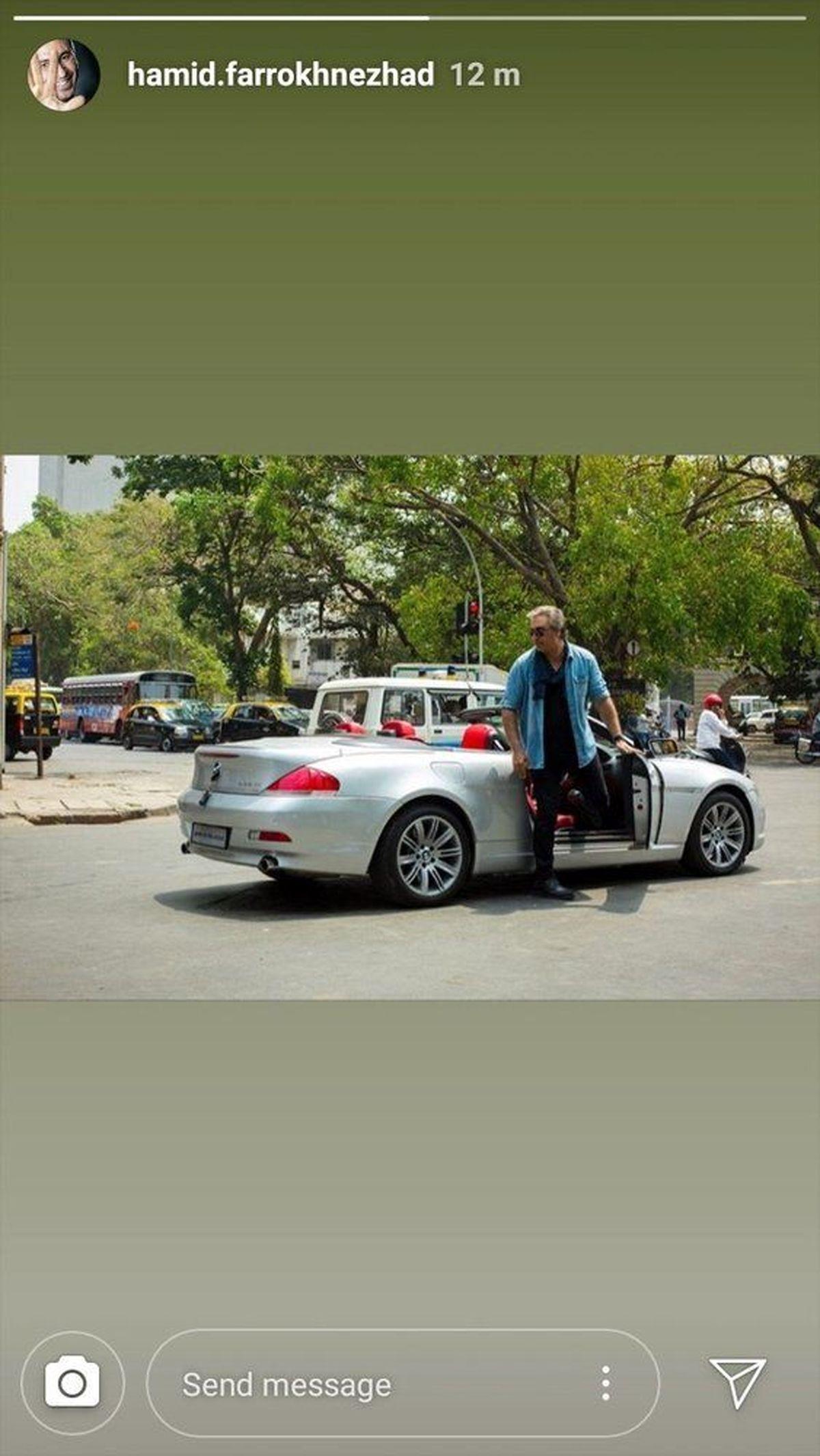 تیپ و ماشین لوکس حمید فرخ نژاد