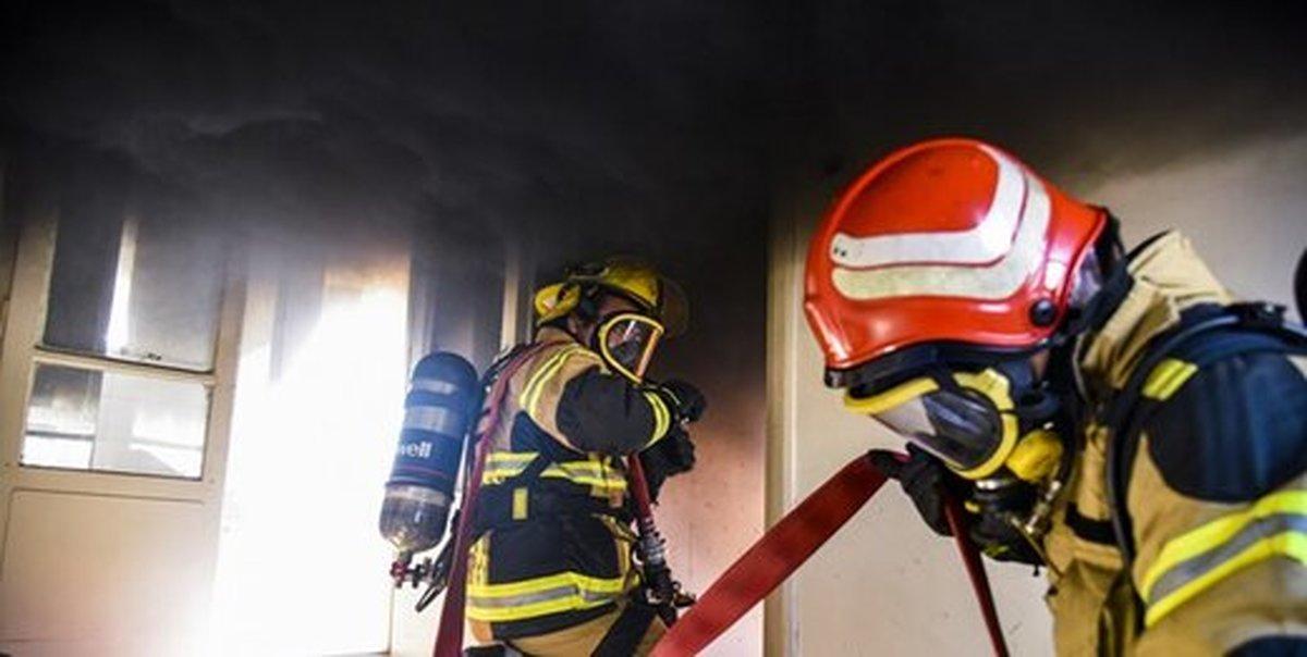حریق در کارخانه تولید ماسک ورامین| ۳ تیم عملیاتی اعزام شد