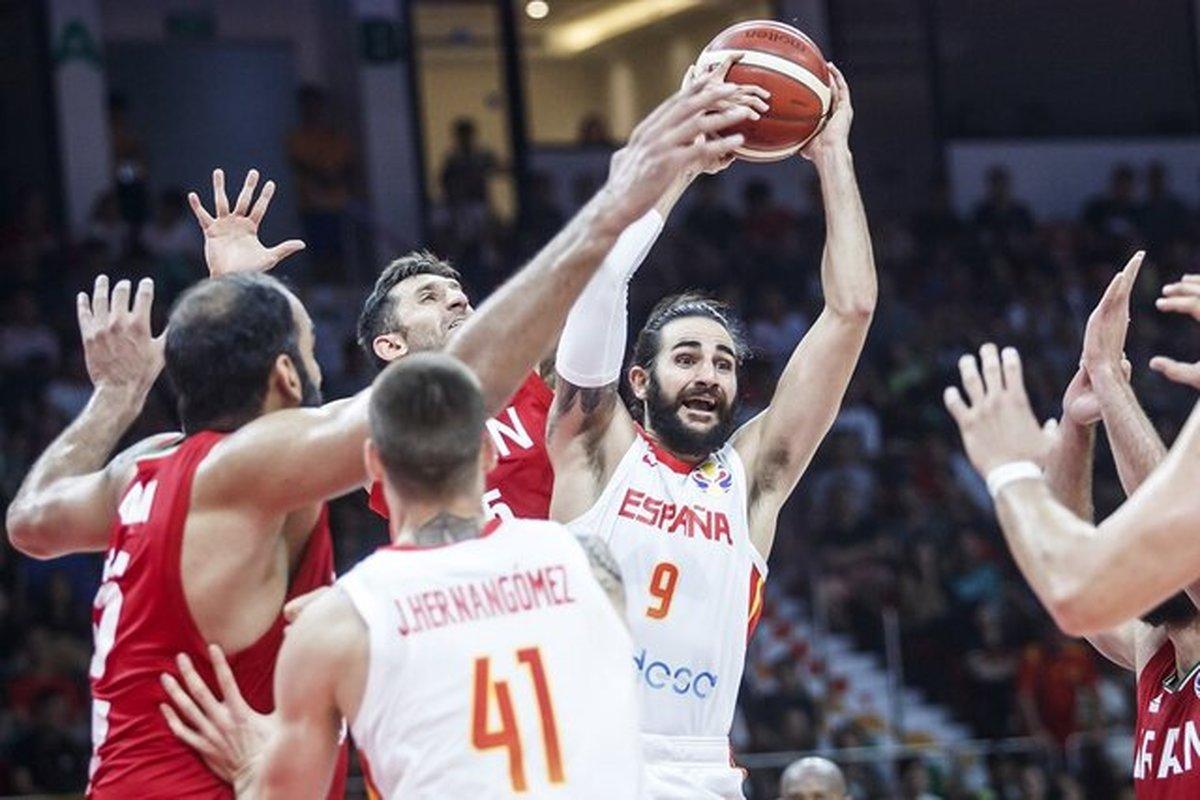 باخت سنگین تیم ملی بسکتبال مقابل اسپانیا