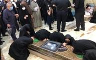 پیکر حجت الاسلام و المسلمین محتشمی پور در حرم حضرت عبدالعظیم(ع) آرام گرفت