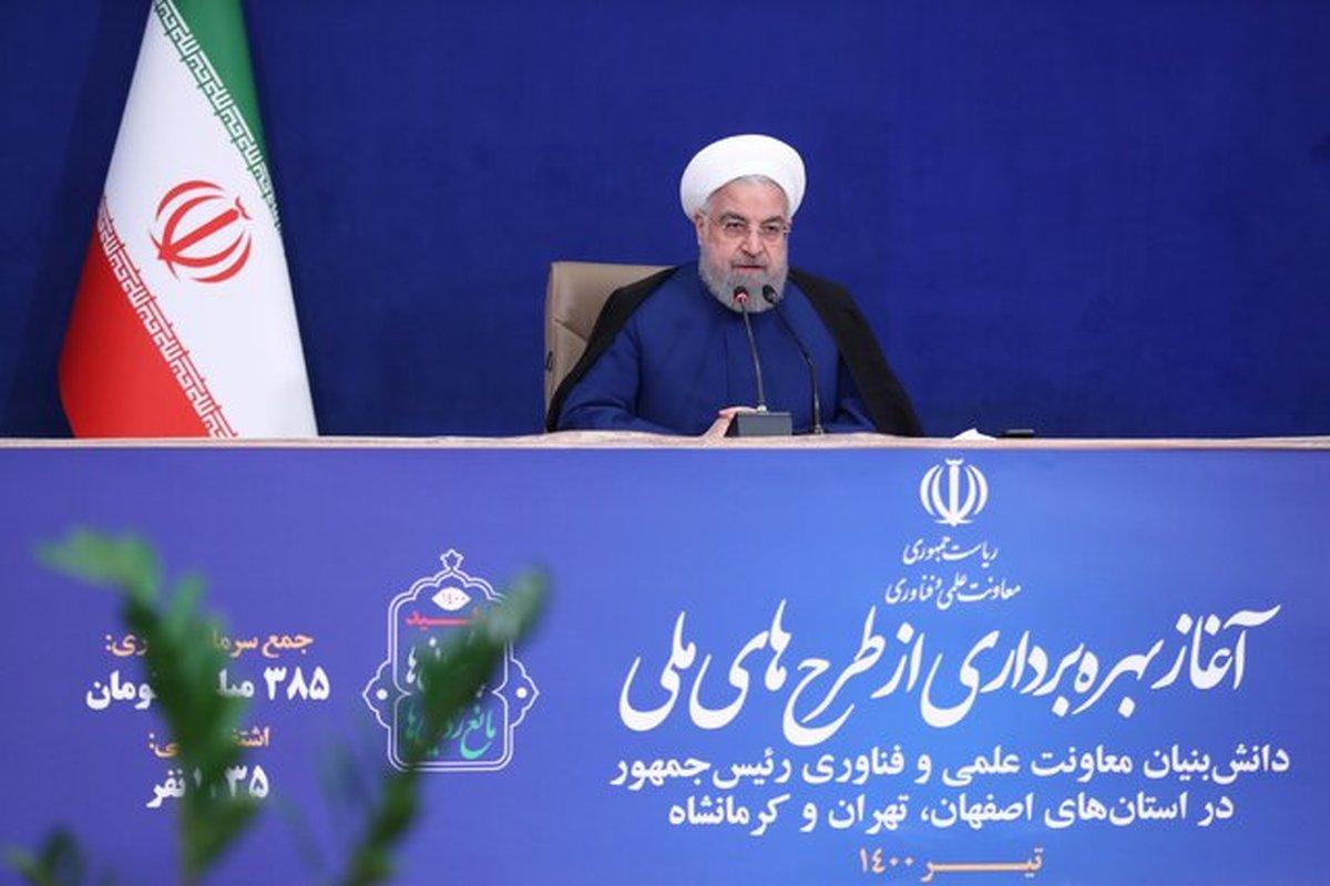 روحانی: توسعه و پیشرفت کشور از مسیر اقتصاد دانشبنیان است