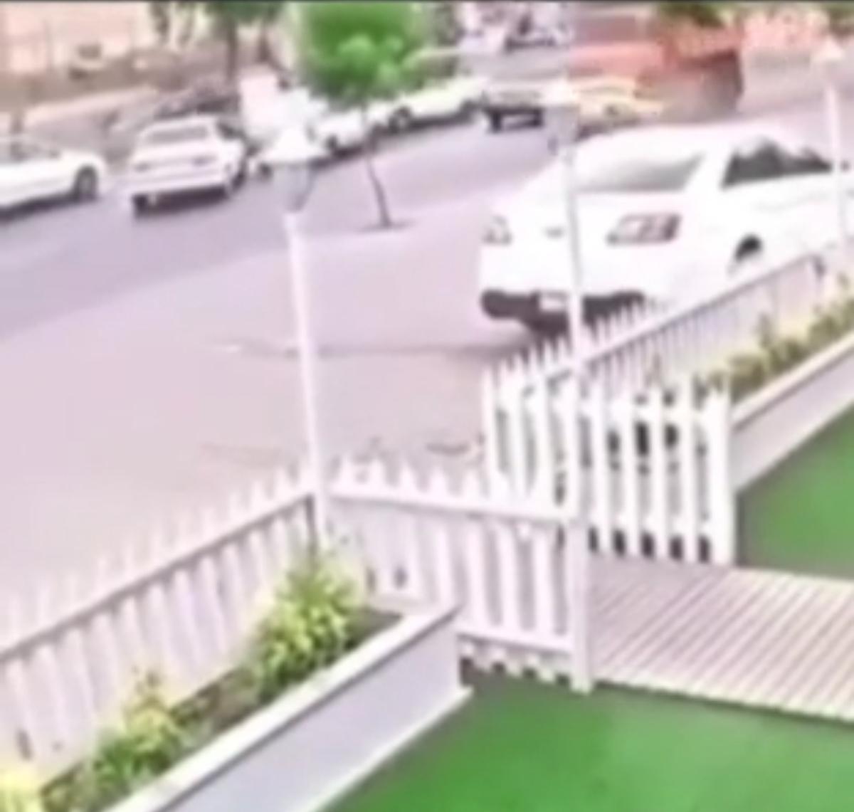 ترمز بریدن وحشتناک کامیون در رشت + ویدئو