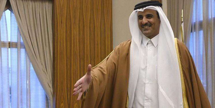 امیر قطر نامهای را از طرف امیر کویت تحویل گرفت