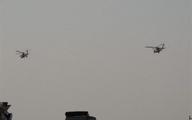 پروازهای مشکوک بالگردهای آمریکایی بر فراز مواضع حشد شعبی