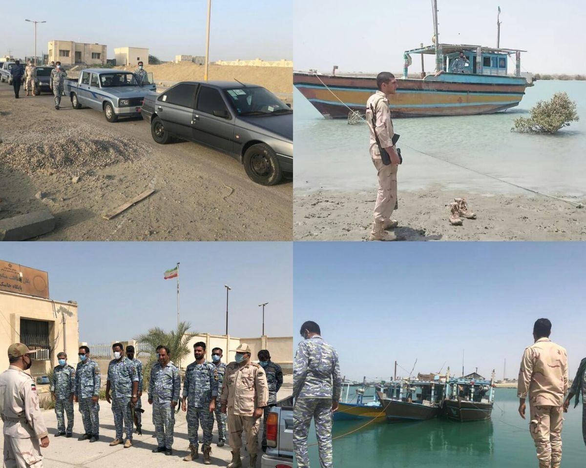 هشت فروند شناور غیرمجاز و فعال صید ترال در جاسک توقیف شد