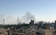 آتش سوزی وسیع یکی از کارخانه های غرب تهران +فیلم