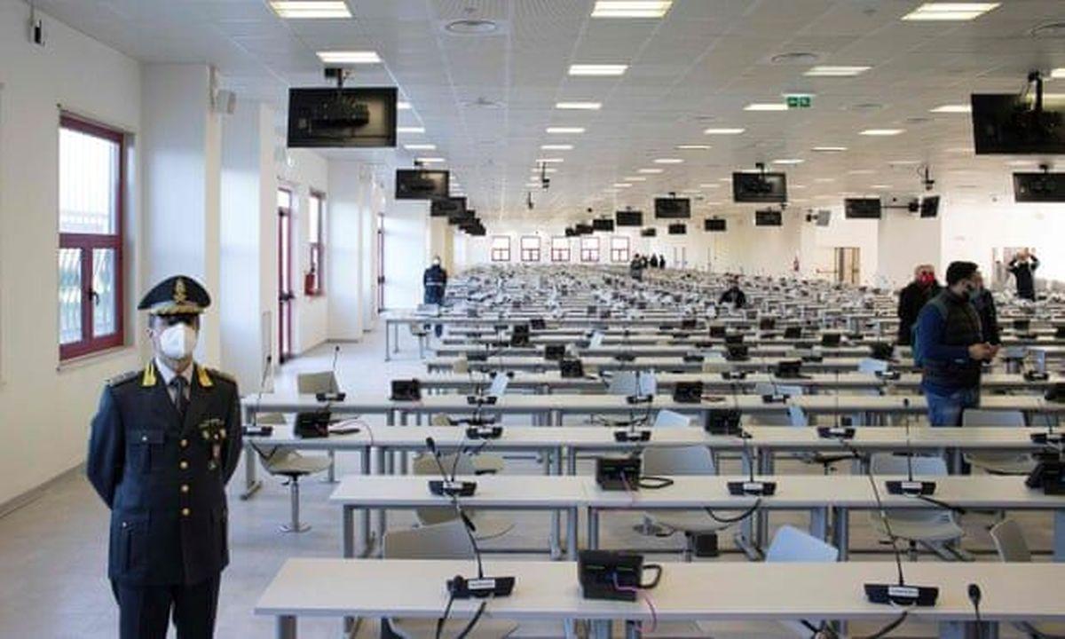 برگزاری بزرگترین جلسه محاکمه سران مافیای ایتالیا