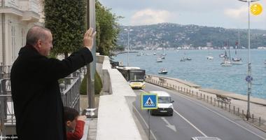 حضو  اردوغان در ربرگزار ی رژه قایق های بادبانی