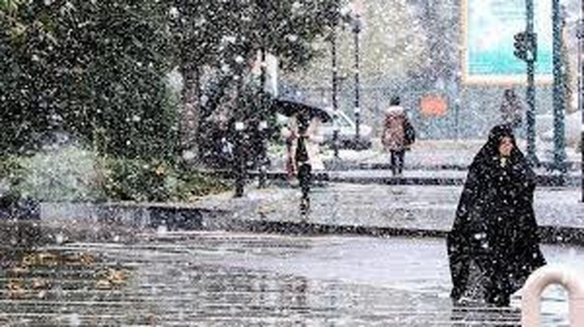هواشناسی    بارش باران و برف درتهران